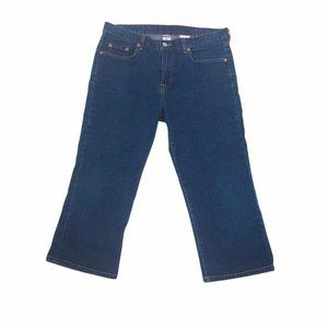 Lucky Brand Dungarees Womens Denim Mid Rise Capris
